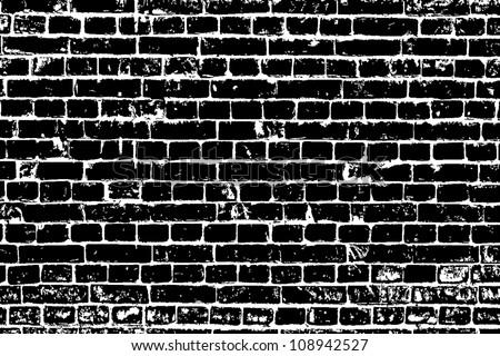 design element. Ancient brick wall texture - stock vector