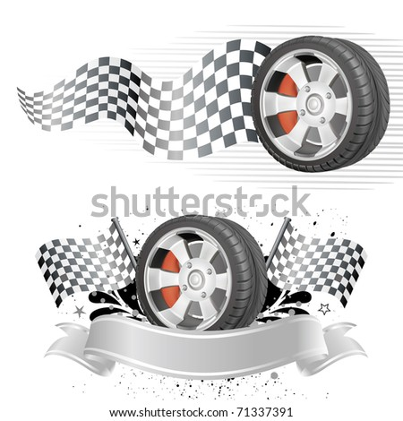 design  element of automobile race - stock vector
