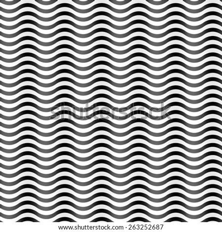 design element.  wavy seamless background - stock vector