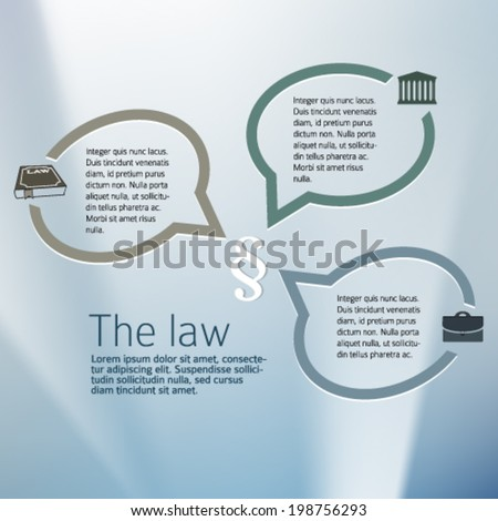 Design elements background for Legal & law firm. Silver glow blur with sign legal law and bubble speak. Vector illustration eps 10.  - stock vector