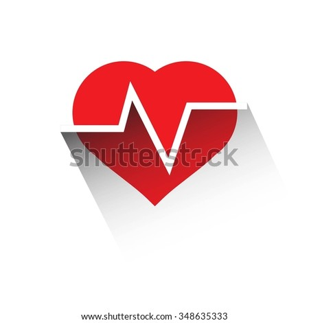 design elements. Cardiogram lines of healthy heart  - stock vector