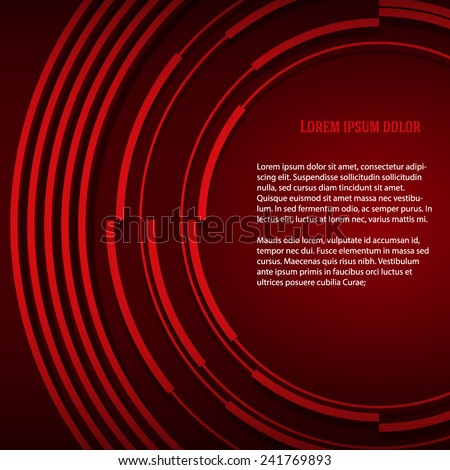 Design elements circle style background business presentation template. Vector illustration EPS 10 for technology banners, brochure title layout, report firm page, ect. - stock vector
