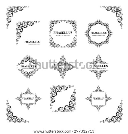 design elements. frame. vector Illustration - stock vector
