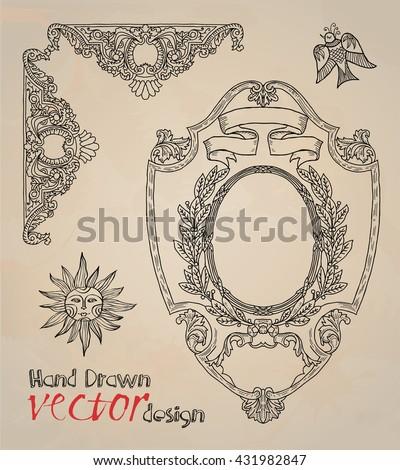 design elements. frames.   - stock vector