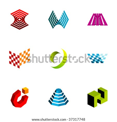 Design elements or logotype design - Set 73 - stock vector
