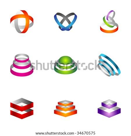 Design elements - Set 23 - stock vector