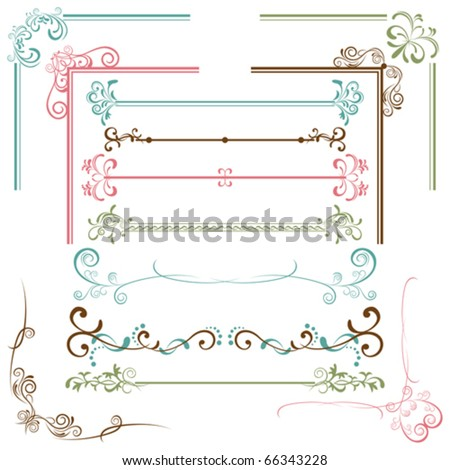 Design Elements Set. Illustration vector. - stock vector