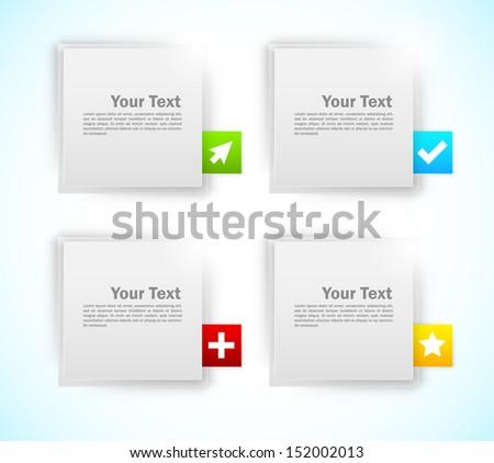 Design elements. Squares - stock vector