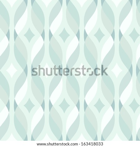 Design elements - tangled colorful waves. Seamless background. Vector illustration. - stock vector