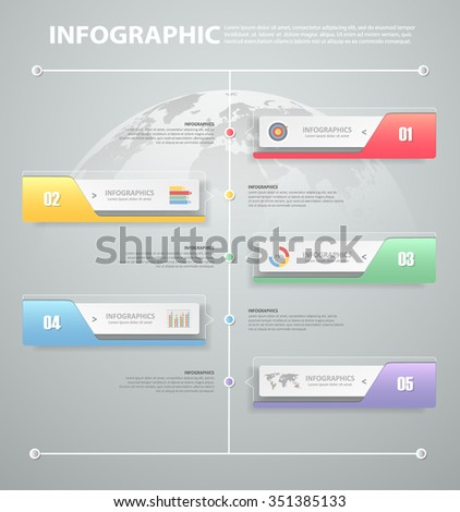 Design infographic template. can be used for workflow layout, diagram, number options, progress, timeline - stock vector