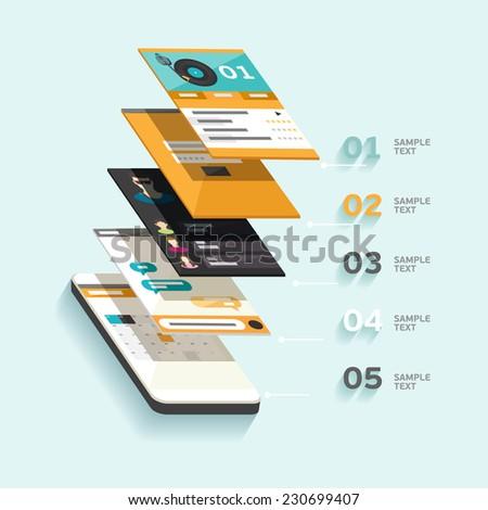 Design interface. Flat design. - stock vector