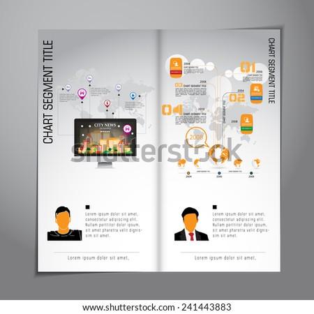 Design layout for brochure  - stock vector