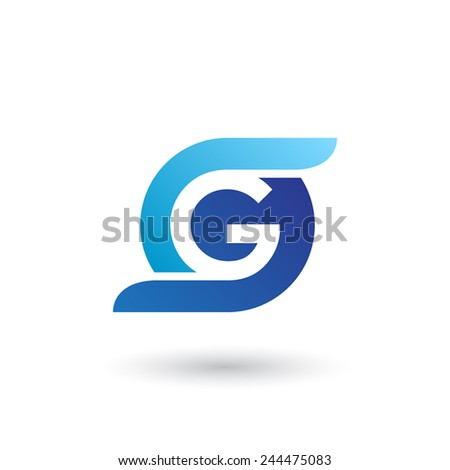 Design logo icon template with letter G. Vector illustration. - stock vector