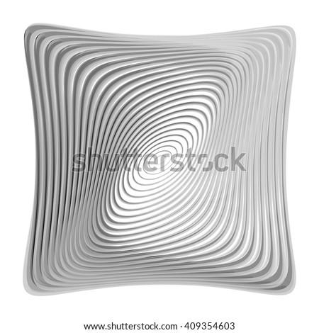 Design monochrome illusion background. Abstract torsion backdrop. Vector-art illustration. EPS10 - stock vector