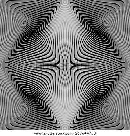 Design monochrome whirl circular motion background. Abstract striped distortion backdrop. Vector-art illustration. EPS10 - stock vector