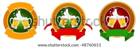 design of beer label - stock vector