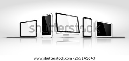 Design of modern devices isometric. Vector illustration - stock vector
