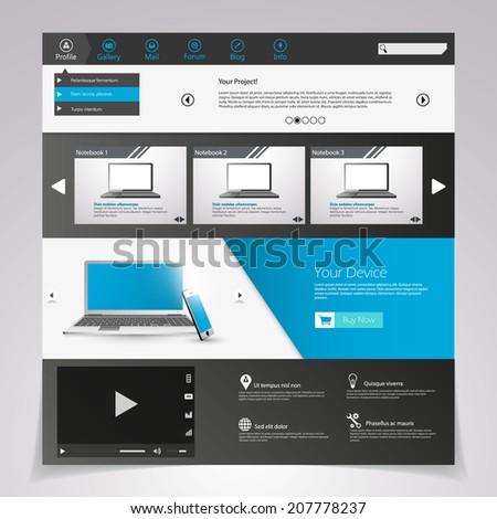 Design of the menu for a website. Creative web design  - stock vector