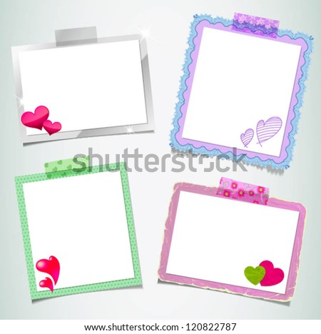 design-ready photo frame set - stock vector