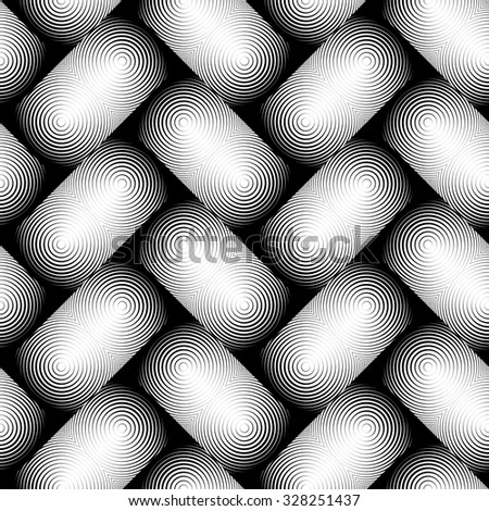 Design seamless monochrome geometric pattern. Abstract textured background. Vector art. No gradient - stock vector