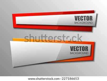 Design shape Origami vector banner - stock vector
