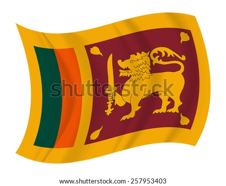 design Sri Lanka flag waving vector - stock vector