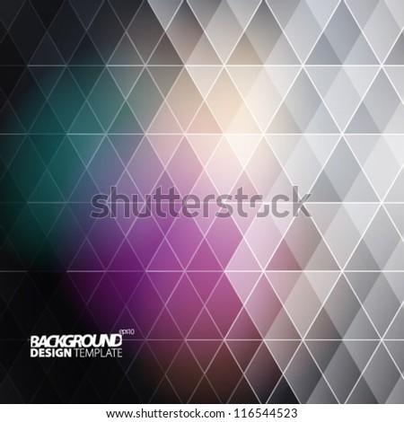 Design Template - eps10 Geometric Background - stock vector
