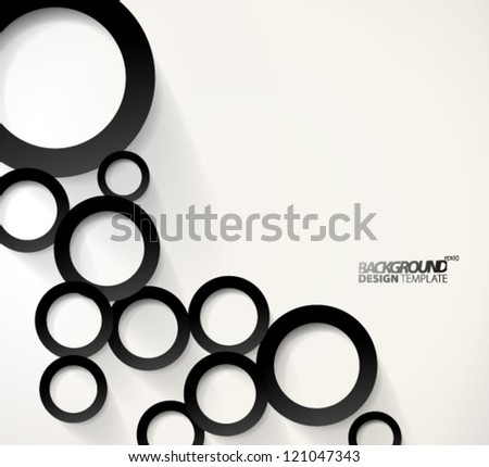 Design Template - eps10 Geometric Circles Background - stock vector