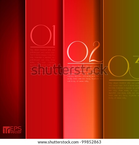 Design template - graphic or website layout vector - red to green and yellow - stock vector