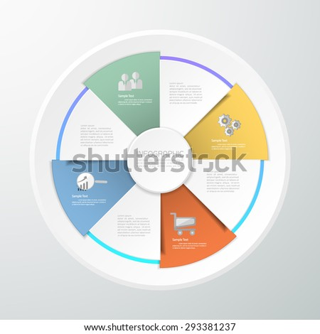 Design template Infographic. can be used for workflow layout, diagram, number options - stock vector