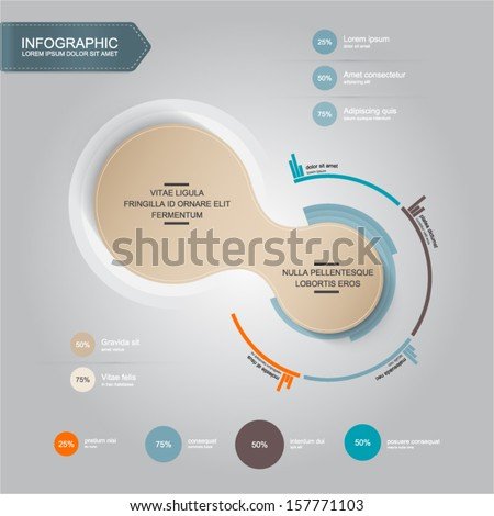 design template - infographic element - stock vector