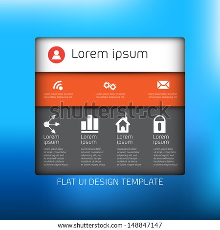 Design template profile for social media - Minimal application for web or mobile devices - stock vector