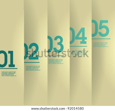 Design template - vertical white cutout lines / graphic or website layout vector - stock vector