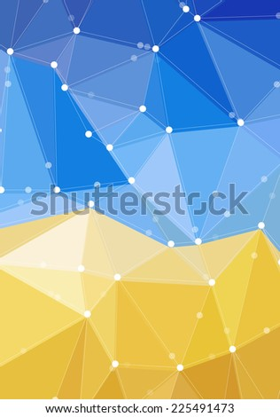 Design template with vector geometric triangular background - stock vector