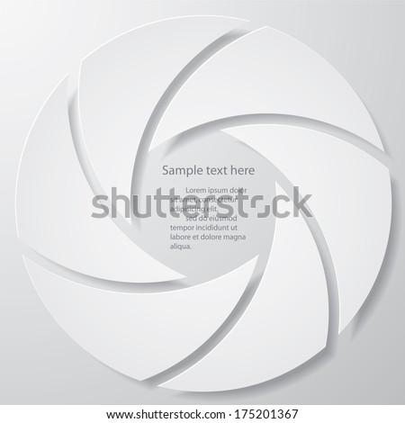 Design Vector illustration of camera shutter. - stock vector