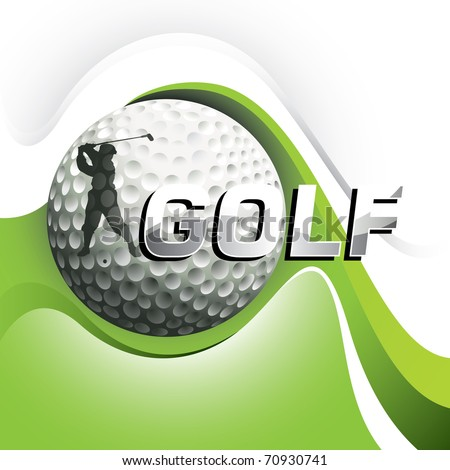 Designed golf background with stylized shapes. Vector illustration. - stock vector