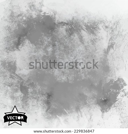 Designed grunge texture, vector background - stock vector