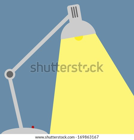 desk lamp - stock vector