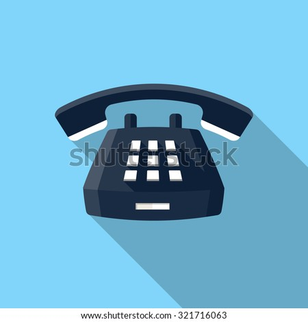 Desk Phone icon - stock vector