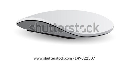 Desktop Computer Mouse, Vector Illustration EPS 10. - stock vector