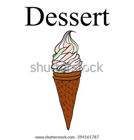 Dessert. Ice cream - stock vector