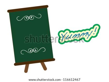 Dessert series (menu board) - stock vector