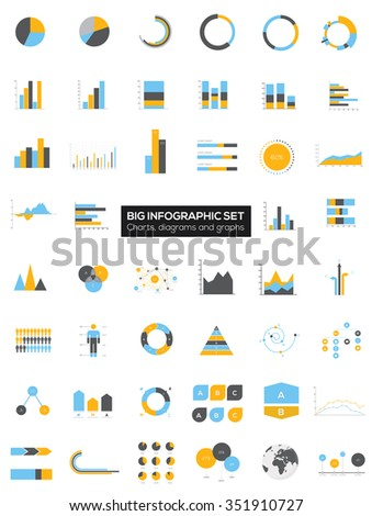 Detail infographic collection vector illustration.  Information Graphics  - stock vector