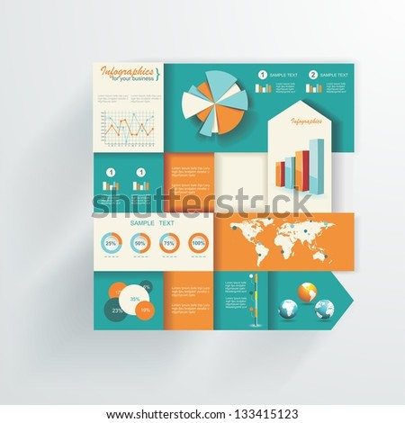 Detail infographic vector illustration. World Map and Information Graphics - stock vector