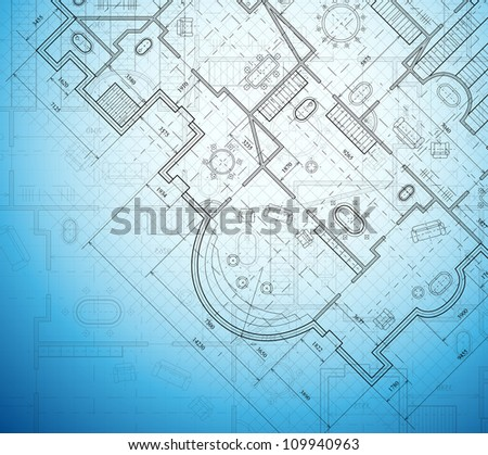 Detailed architectural project. Eps 10 - stock vector