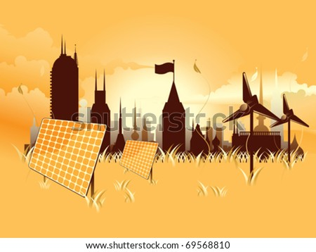 detailed environmental city eps8 - stock vector