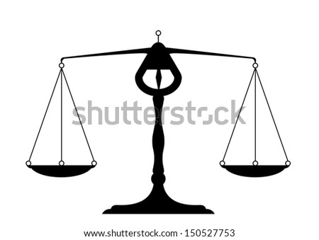 detailed illustration of a balance, symbol for justice - stock vector