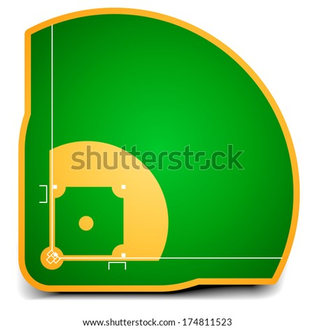 detailed illustration of a baseball field, eps10 vector - stock vector