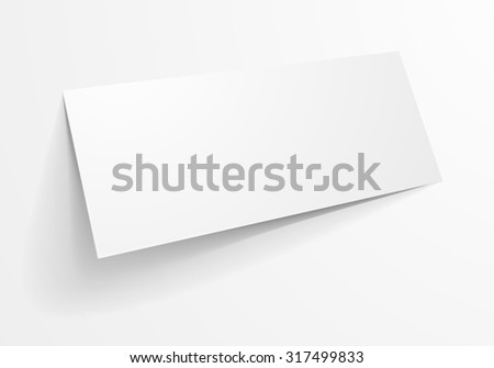 detailed illustration of a blank envelope mockup template, eps10 vector - stock vector
