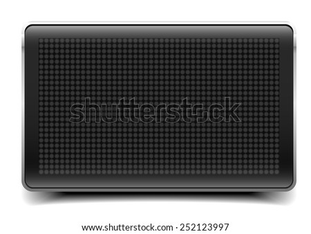 detailed illustration of a blank LED Panel, eps10 vector - stock vector